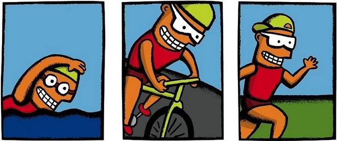 triathlon dibujo